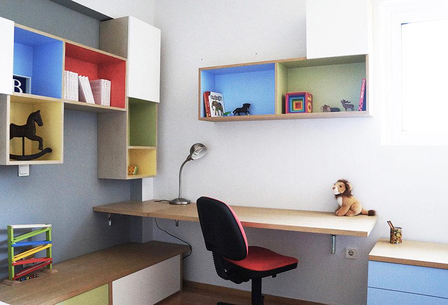 ανακαίνιση δωματίου, βιβλιοθήκη, γραφείο