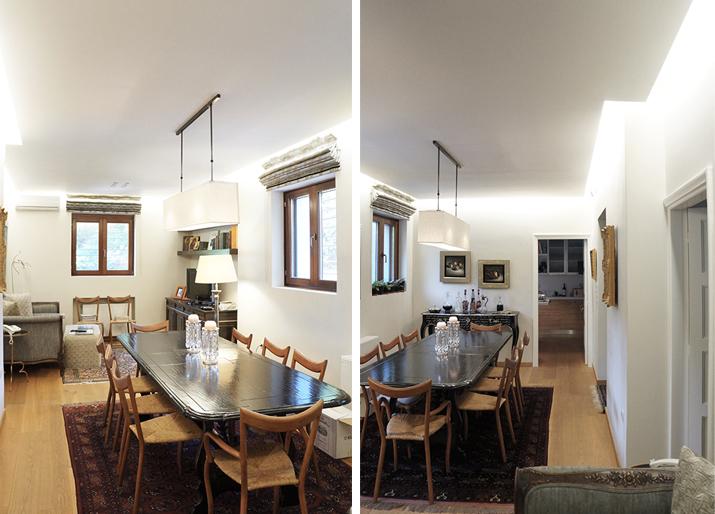 Ανακαίνιση μονοκατοικίας στην Κηφισιά, ανακαίνιση τραπεζαρίας