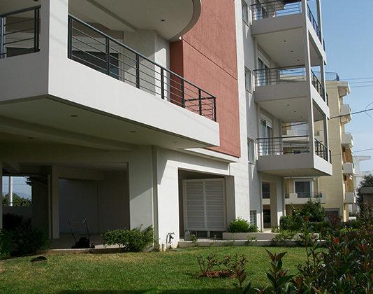 μελέτη, επίβλεψη και κατασκευή πολυκατοικίας, Σπάτα, όψεις, μελέτη κατασκευή, κήπος