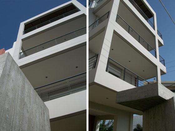 μελέτη, επίβλεψη και κατασκευή πολυκατοικίας, Σπάτα, όψεις, μελέτη-κατασκευή